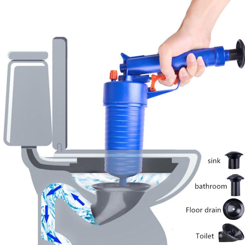 Новый мощный ручной Плунжер для раковины высокого давления, домашний осушитель воздуха, насос/пистолет/очиститель/Открыватель, пластиковый разбиватель туалета, плунжер