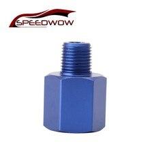 SPEEDWOW 자동차 부품 M12 ~ 1/8 NPT 청색 알루미늄 오일 압력 센서 어댑터 게이지 센서 나사 어댑터 감속기 밸브 트레인