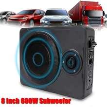 8 pollice 600 w Subwoofer Auto Sottile Bass box Sub Amp Amplificatore Auto Subwoofer Auto Ampfilier Subwoofer in Macchina altoparlante