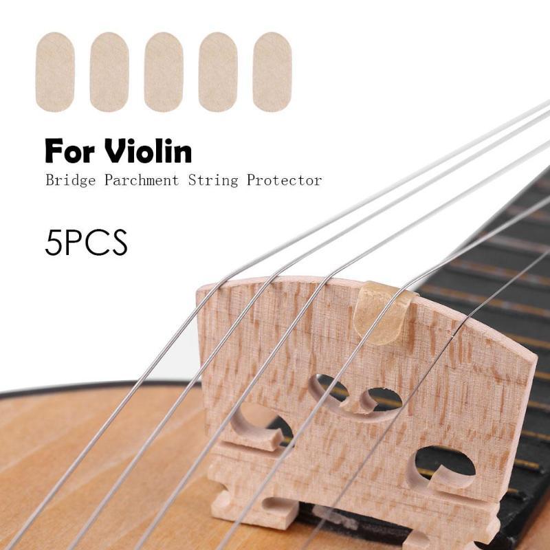 5 шт./компл. Защитная струна для моста скрипки, Струнные инструменты, детали для E-String, аксессуары для скрипки