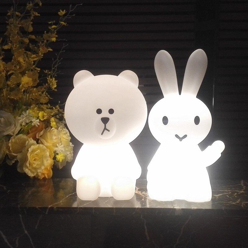 مصباح مكتب Led على شكل أرنب ، تصميم أرنب ساخن ، إضاءة زخرفية داخلية ، مثالي لغرفة النوم أو طاولة السرير أو كهدية عيد الميلاد للأطفال الرضع.