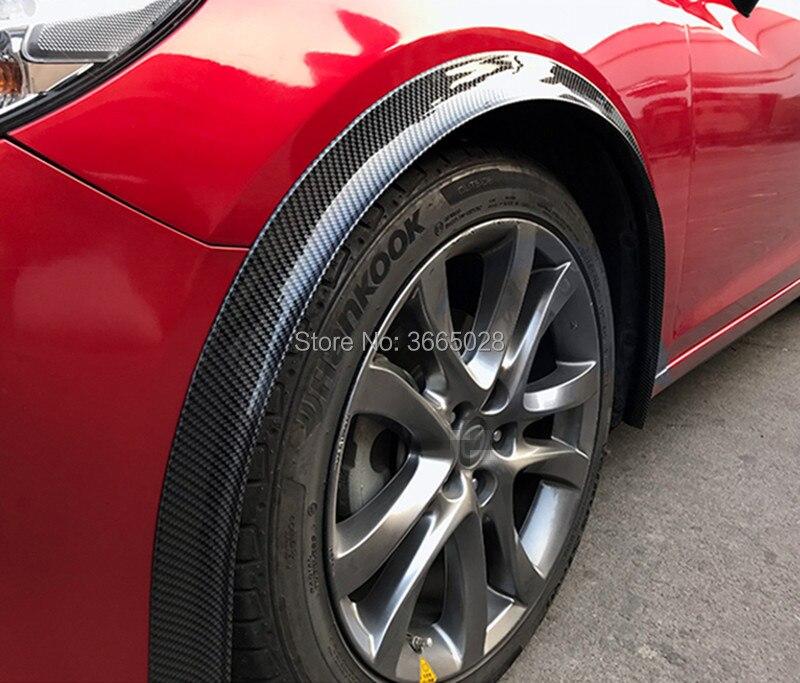 1.5Meter*3.7cm widen car rubber fender flare mudguard trim for 2 tires DIY wheel arch fender flare wheel eyebrow stripe SUV PICK