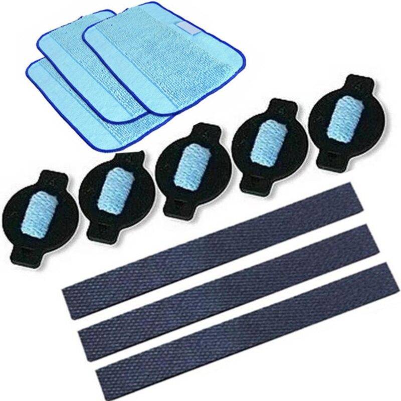 Robot de neumático de la rueda de paño de mopa agua tapa 11 unids/lote reemplazo para iRobot braava 320, 380, 381, 380T 390 de 390T de 4200, 4205, 5200, 5200