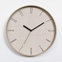 12 Inch Wall Clock Nordic Household Mute Living Room Bedroom Minimalist Modern Decorative Wall Watch Quartz Round Clocks