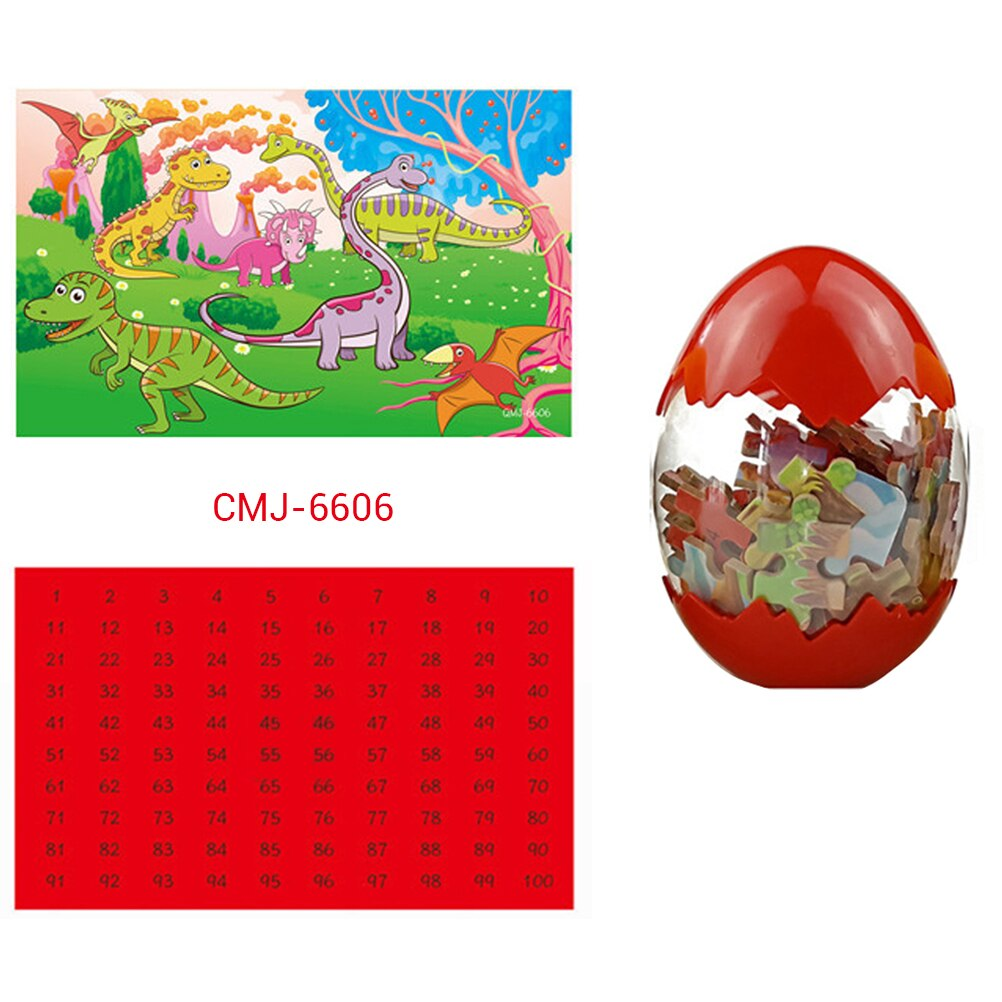 Dinosaurio gigante huevos 60 piezas rompecabezas de madera dinosaurio niños juguetes de plástico Color en caja sorpresa dinosaurio huevos rompecabezas de madera