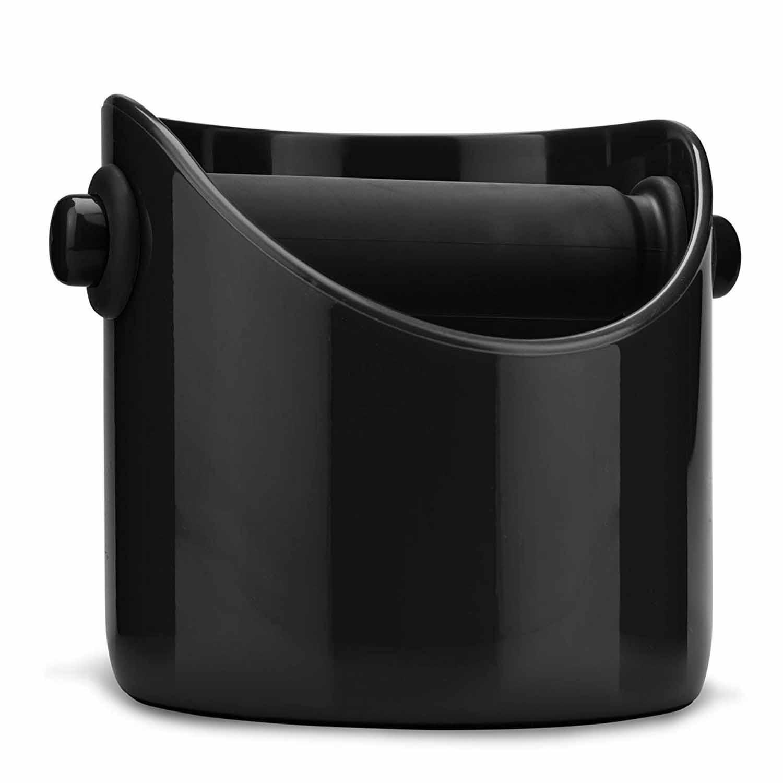 Caja de molienda de café ELEG y cubo de basura de Espresso (negro)