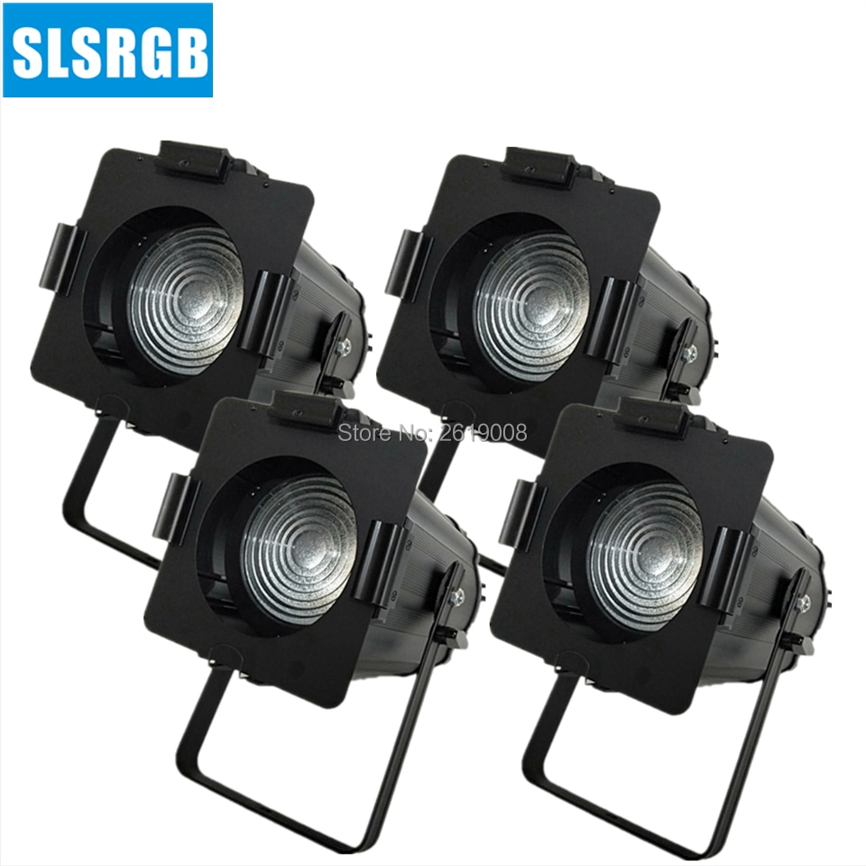 4 unids/lote de focos LED de 200W para estudios de televisión, luces de escenario de teatro, luz LED de Fresnel de 200W para estudio de cine y televisión