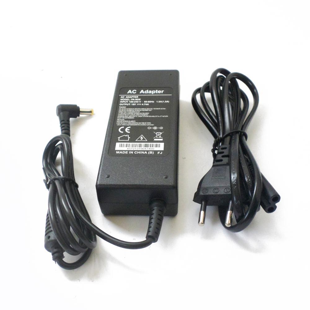 Nuevo cargador para Acer AC Adapter PA-1900-04 PA-1900-24 PA-1900-34 PA-1900-36 ADP-90CD DB ADP-90SB BB 19V 4.74A cable de alimentación