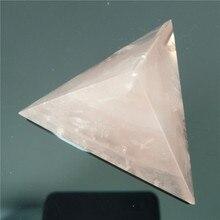 Rose Crystal Tetrahedron Pyramid Stone Stones Crystals Pyramide Wicca Cristal Islande Pierre Naturelle Cristaux Healing Home