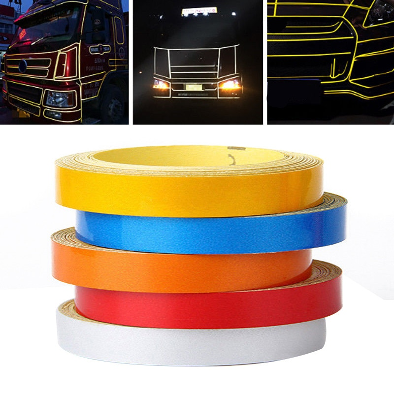 AliExpress - New Arrival 1pc 5M*1CM Car DIY Reflective Stripe Car Body Rim Self-Adhesive Sticker Tape 6Colors