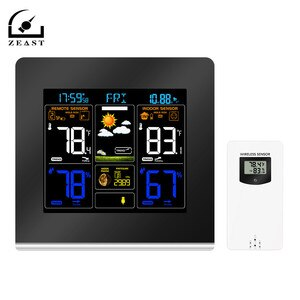 Wireless Weather Station EU/US/UK Plug Temperature Hygrometer  Colorful LCD Display With Barometer Weather Forecast Radio Alarm