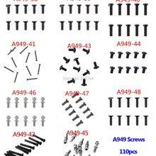 110Pcs Screws Ball Round Flat Head Screw For Wltoys A949 A959 A959-B A969 A979 RC Car Parts A949-38