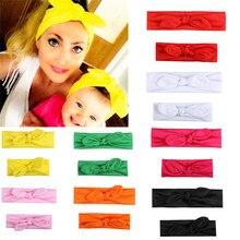 Bandeaux de cheveux 2 pièces/ensemble mère et fille   Accessoires pour bandeau, nœud torsadé, pour fille et enfant, bandeau de coiffure de famille Parent-enfant