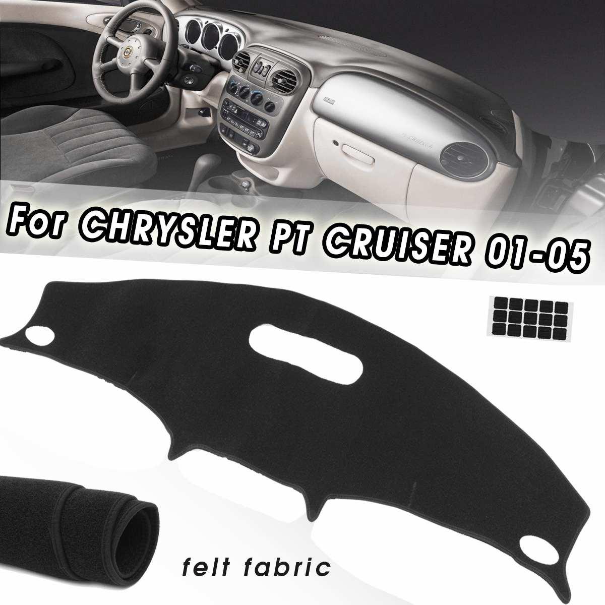 Black Dash Cover Dashboard Mat Pad Carpet Dash Mat Sun Visors For Chrysler PT Cruiser 2001 2002 2003 2004 2005