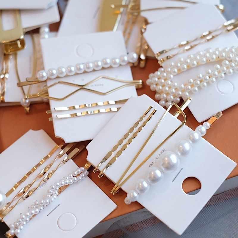 2020 New Women Barrettes Set Korean Simulated Pearl Gold Hair Clip Hairgrips Hair Accessories Girls Jewelry Fashion Hair Pins Hair Jewelry Aliexpress