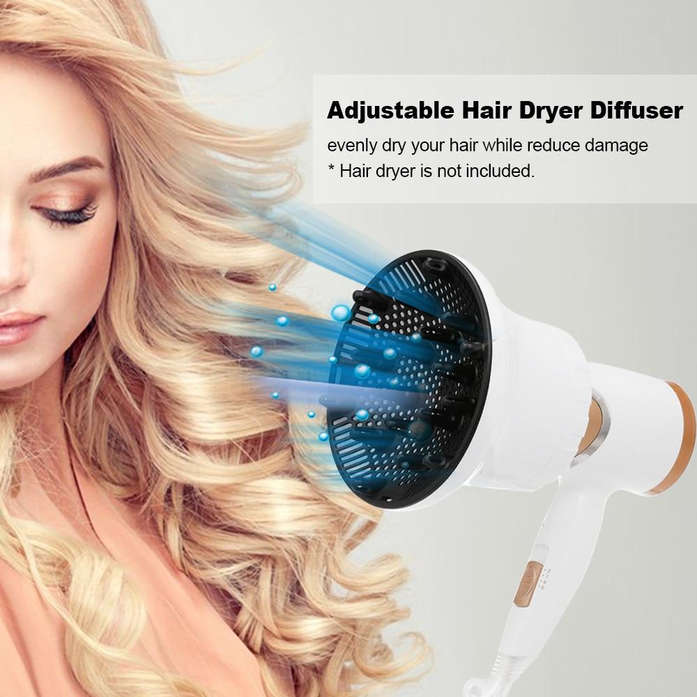 Secador de pelo difusor ajustable golpe secadores difusor para rizado u ondulado Accesorios para peinados salón herramienta de pelo