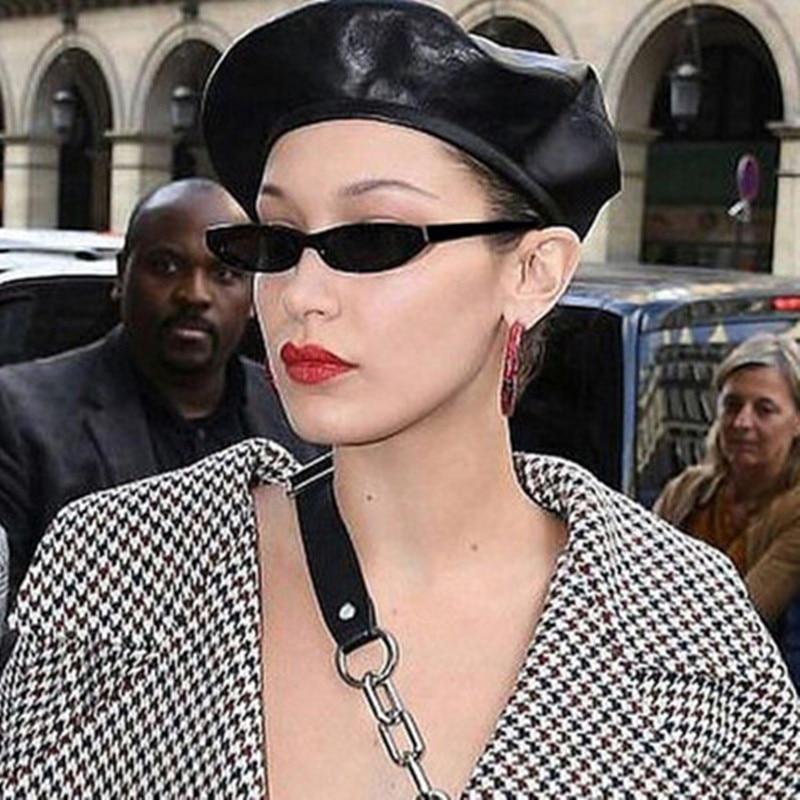 Fashion Vintage Rectangle Sunglasses Cat Eye Sun Glasses Retro Skinny Eyewear Women Small Square Fra