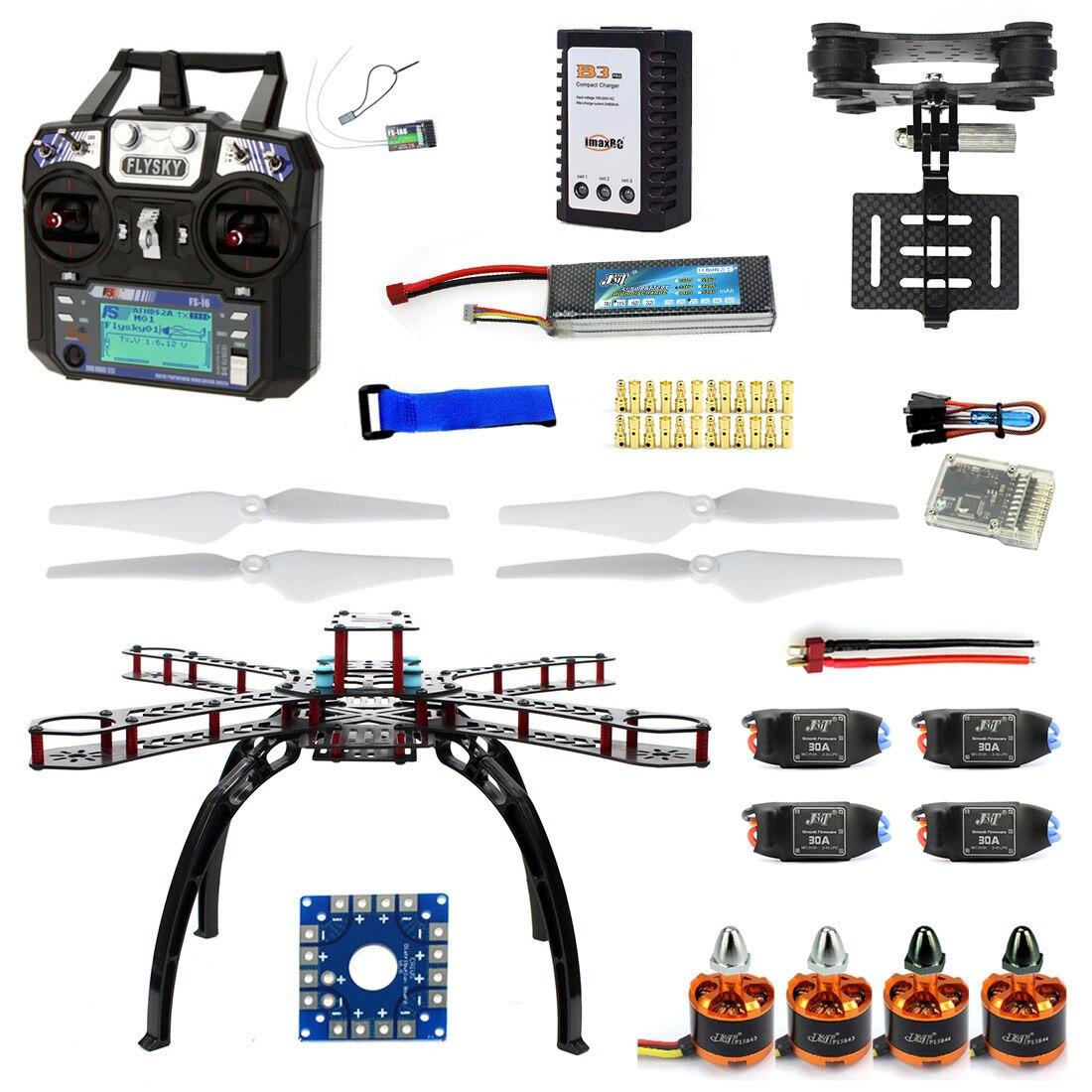 Full Kit DIY RC Drone Quadrocopter X4M380L Frame Kit QQ Super TX Gimbal F14893-O