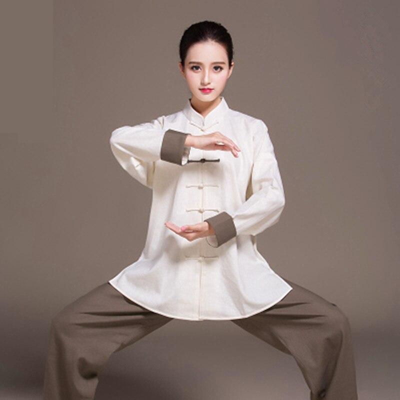 Набор женских льняных ушу, тренировочные костюмы двухцветное освещение для занятий тайцзи костюм женский кунг фу форменная одежда для боевых искусств Тай Чи Jiu Jitsu (джиу джицу), комплект одежды с длинными рукавами| | | АлиЭкспресс