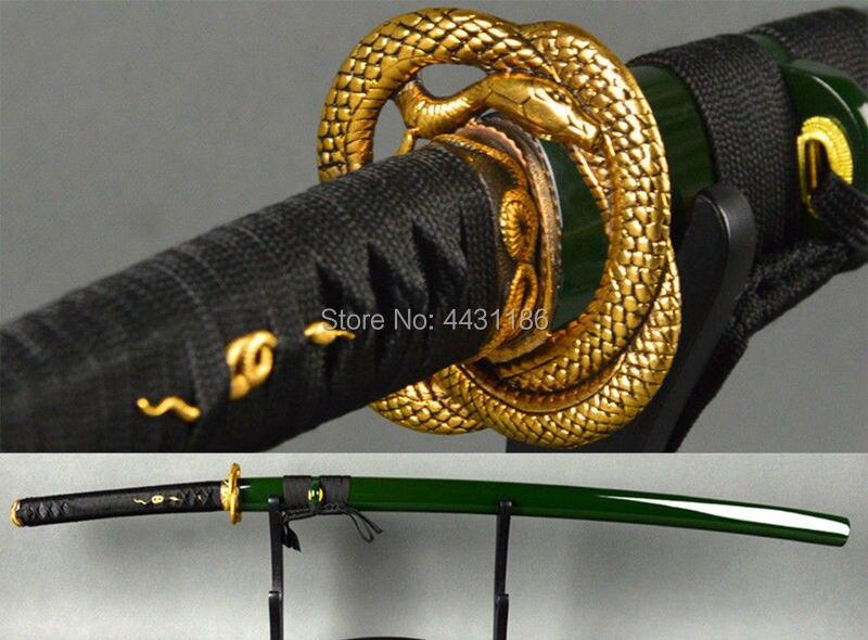 Accesorio de cobre de alta calidad con temática de serpiente tsuma-kashira-fuchi-menuki Katana, espada de samurái japonesa, DIY
