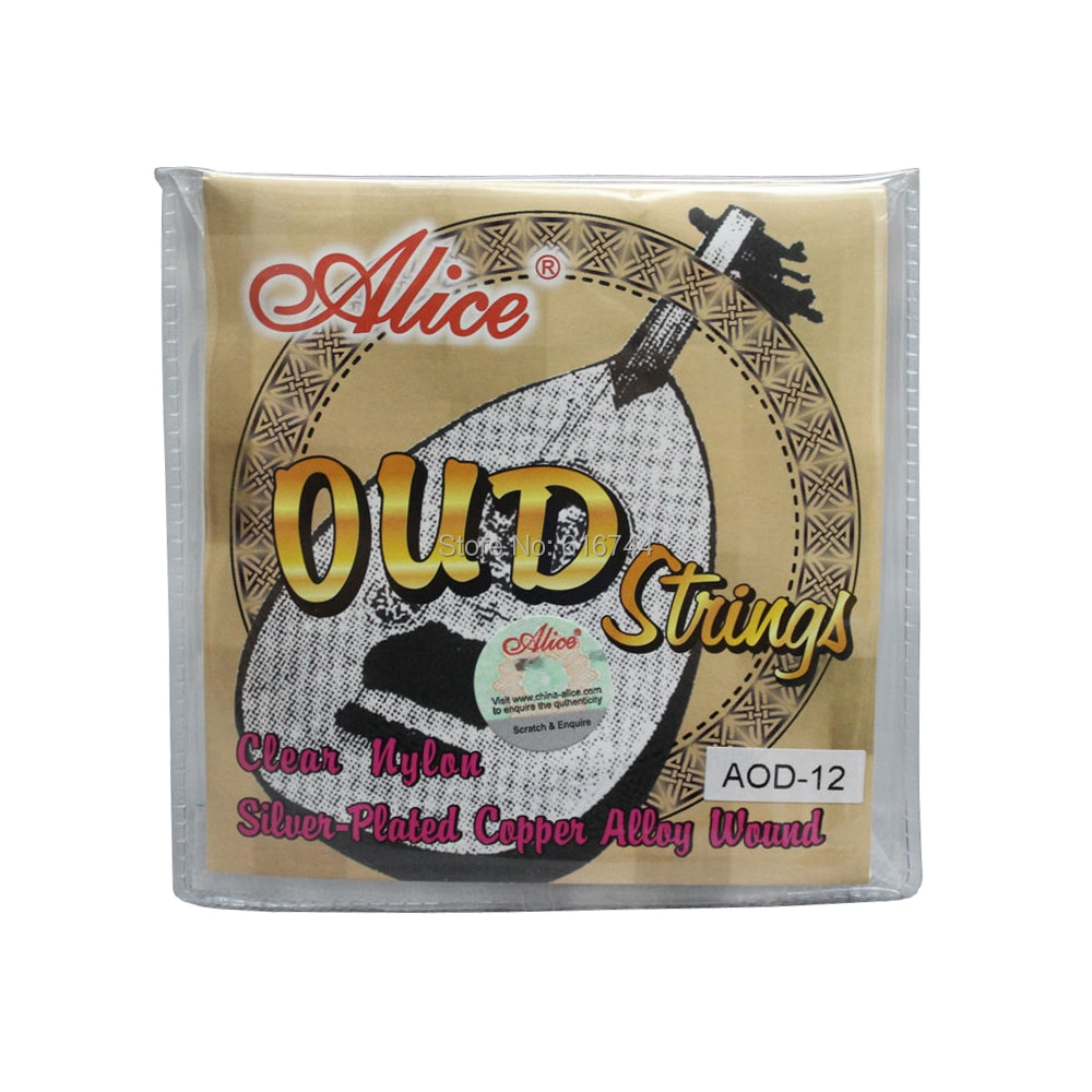 5 Sets Alice UD OUD Strings Clear Nylon Silver-Plated Copper Alloy Wound AOD12 enlarge