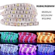 Xunata RGB 5050 LED Streifen DC 12 v 24 v 60 LEDs/m RGBW RGBWW Wasserdichte Flexible Led-leuchten dekoration Für Küche 5 mt/los