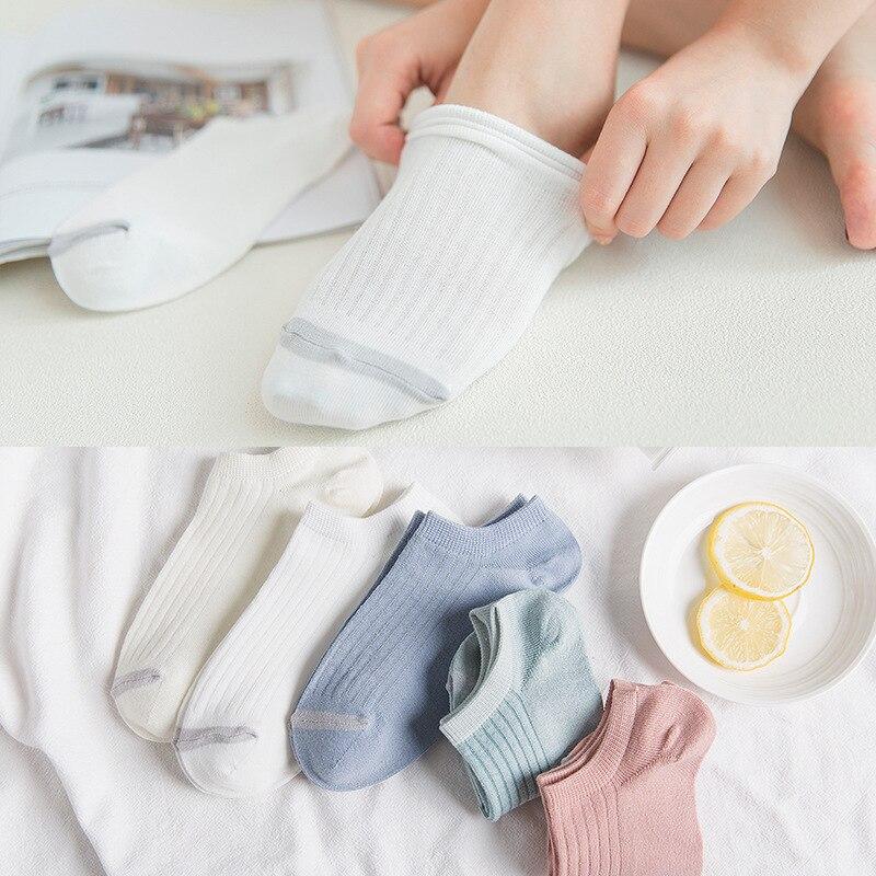 Mulher Suor invisível Curto verão confortável da menina do algodão meias barco das mulheres tornozelo baixo femininas 1 par = 2pcs ws178