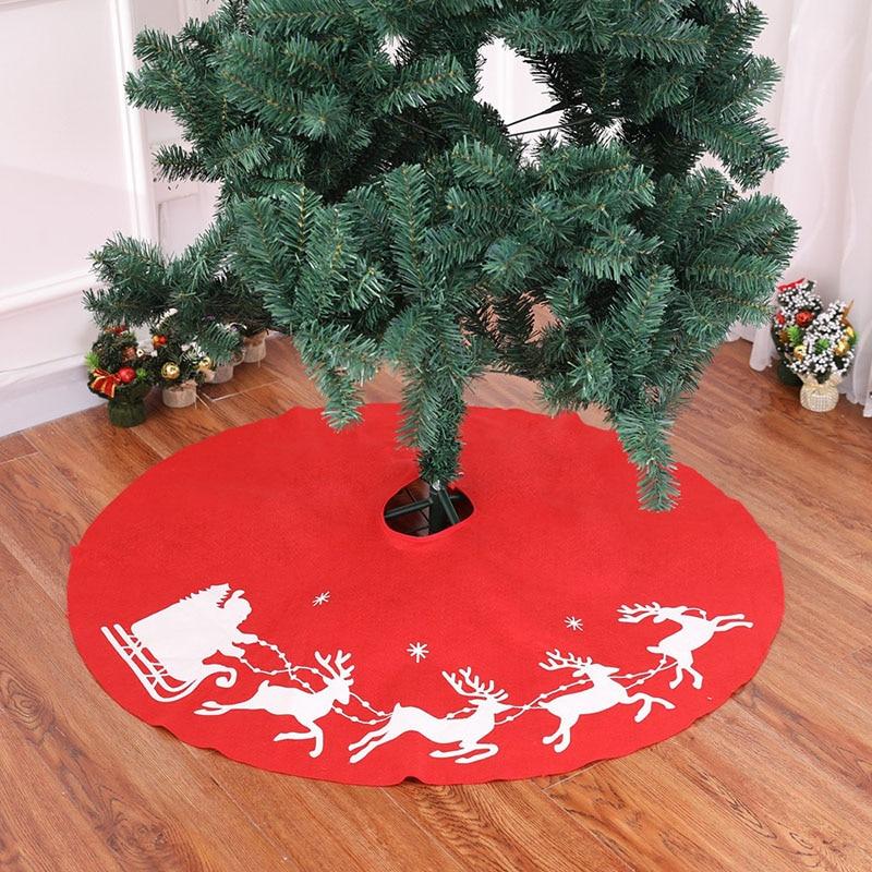 Falda roja De poliéster Para árbol De Navidad, decoración De Navidad, 100cm,...