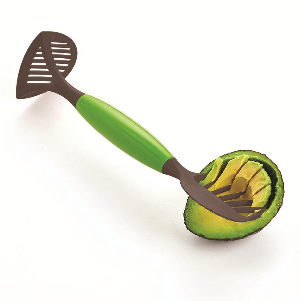 3-en-1 de la fruta de aguacate divisor de Masher herramientas Multi-funcional fruta crores divisor de suministros