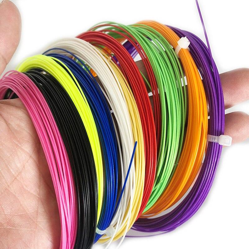 50 piezas de cadena de entrenamiento al por mayor de raqueta de Bádminton de 0,7mm de raqueta de cuerda duradera de 10 m de tensión 26lbs