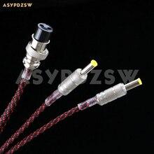 1,2 м посеребренный провод GX16mm-2PIN до 2 шт 5,5*2,1 мм Мужской линейный кабель питания