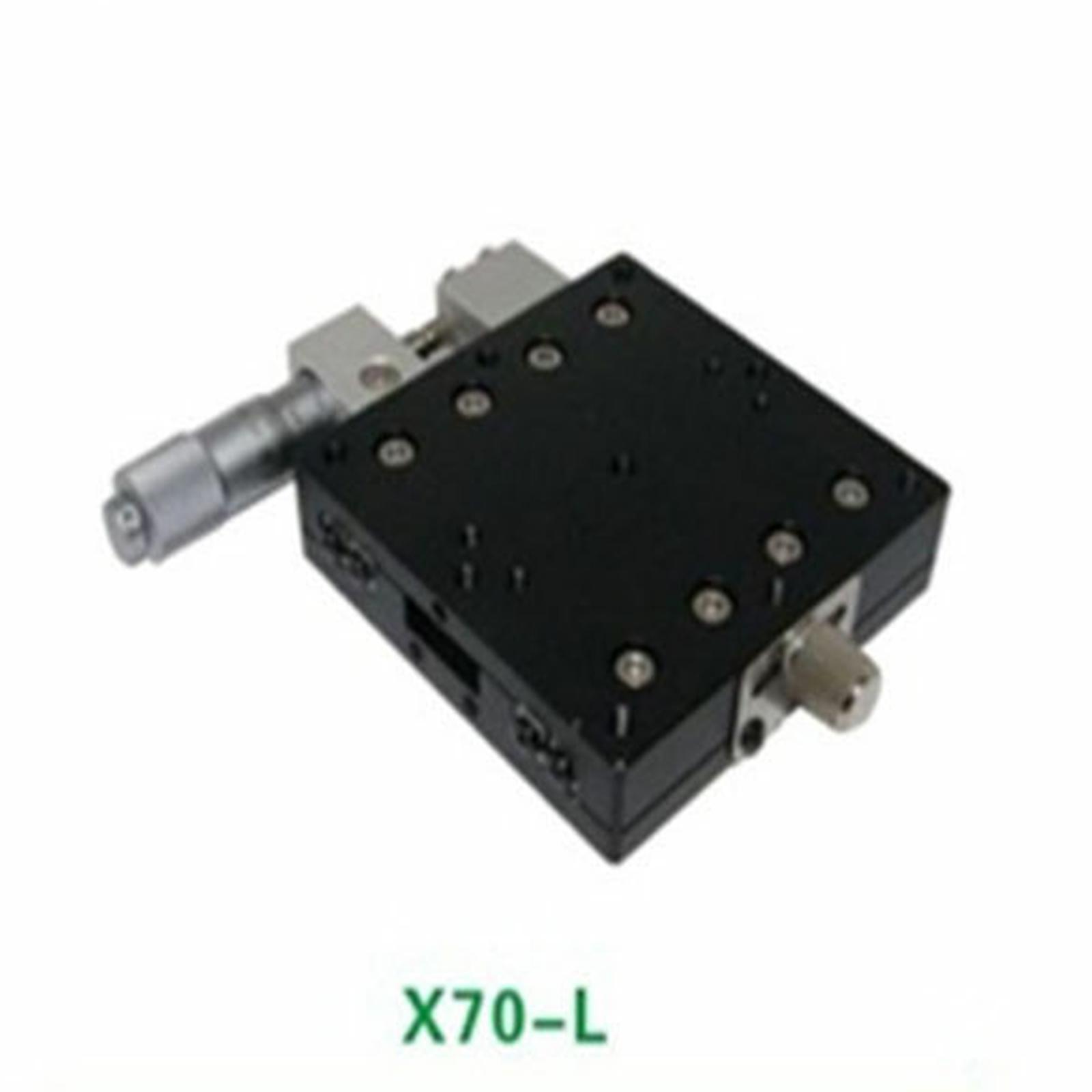 ميكرومتر منصة خطي ، منصة دقيقة ، المرحلة اليسرى ، 70 × 70 مم