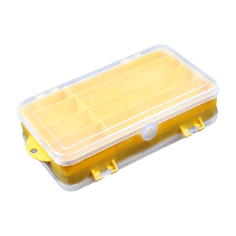 Caja de cebo de doble cara portátil, caja de anzuelos, caja de almacenamiento de cebo, equipo de herramientas de pesca, caja de clasificación, contenedor Ogranizer