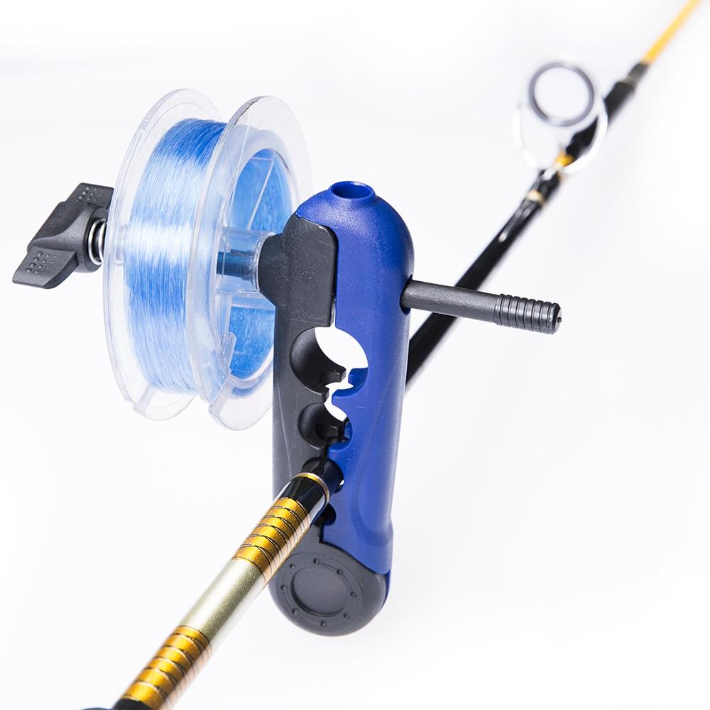 Fishing Line Winder Adjustable Lightweight Fishing Line Spooler Seawater Saltwater Universal Fishing Rod Bobbin Reel