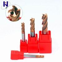 Hot Sale GEN 10R0.5*40*D10*100*4F Solid Carbide 4 Flute Corner Radius End Mills HRC58 TiSiN