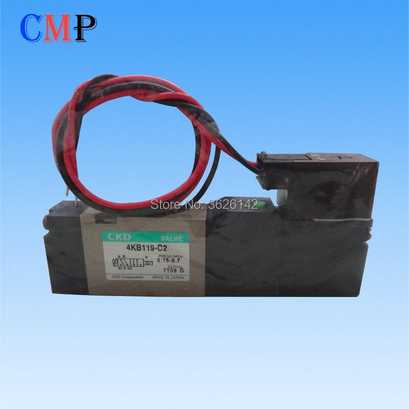 Válvula CKD 4KB119-00-C2-DC24V válvula solenoide 4KB119-C2 para corte de cable sopolla EDM