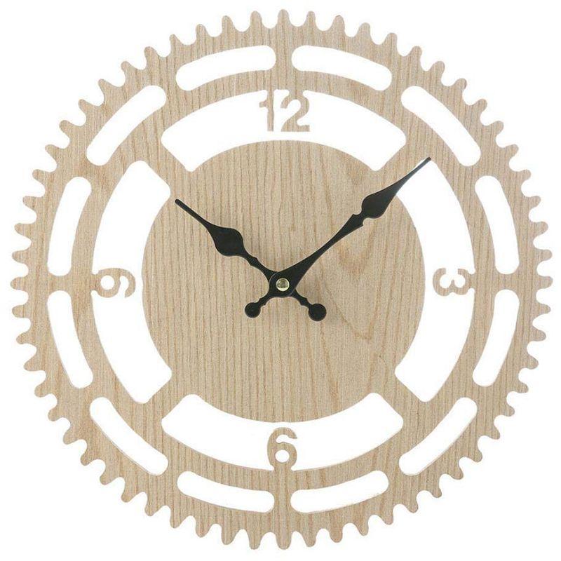 Reloj de pared con números romanos antiguos de madera Vintage caliente SZS, reloj de pared de madera rústico Vintage antiguo Retro desgastado Kitmchen Roo