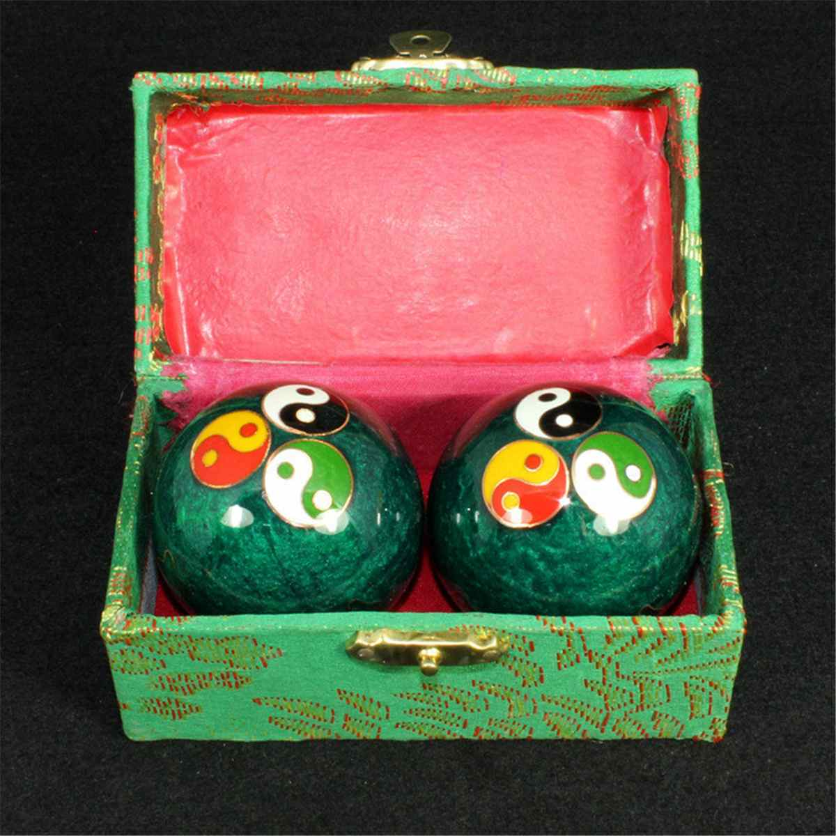 Chinese Health Daily Meditation Balls hand finger Exercise Stress Relief Baoding Balls Relaxation Th