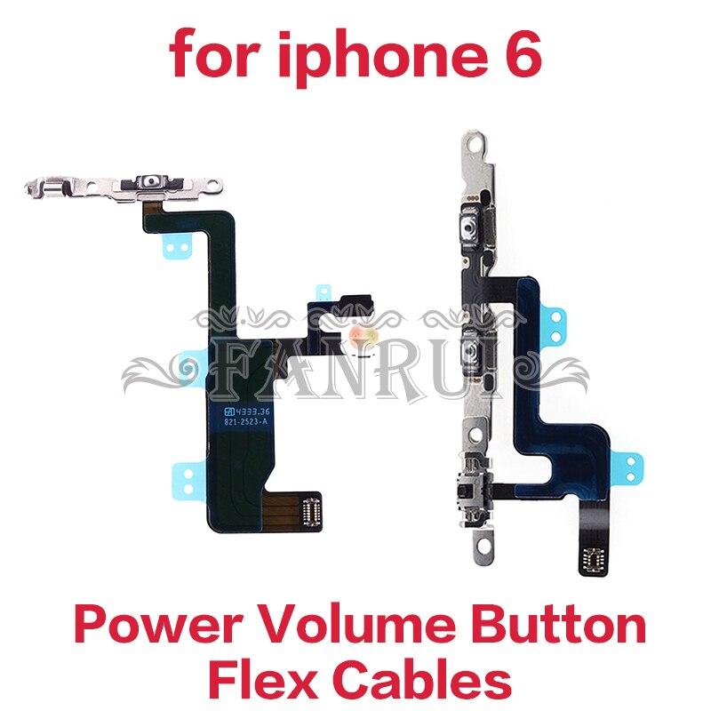 Cichy wyciszenie i moc i objętości flex cable dla iPhone 6 na/wyłączanie i przełącznik głośności wstążka Flex kabel części zamienne części