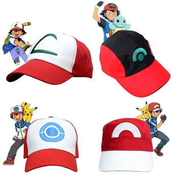 Kids Adult Pocket Monster Cosplay Cap Drake Hip Hop Pocket Monster Baseball Cap Ash Ketchum Cosplay Tranier