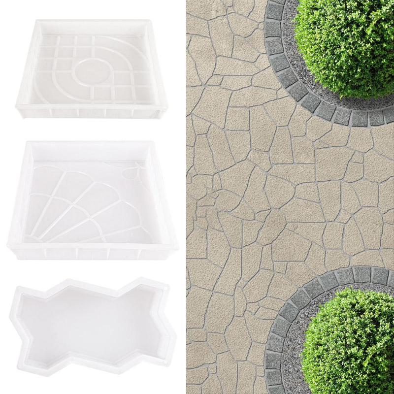 Molde de pavimento de jardín DIY caminar manualmente camino de carretera propileno pavimentación de cemento piedra de ladrillo de hormigón molde herramientas de jardín
