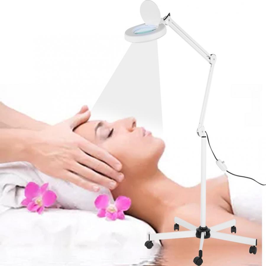 4 tipos 8X lupa LED iluminada lupa soporte de pie lámpara de pie belleza manicura tatuaje accesorios b