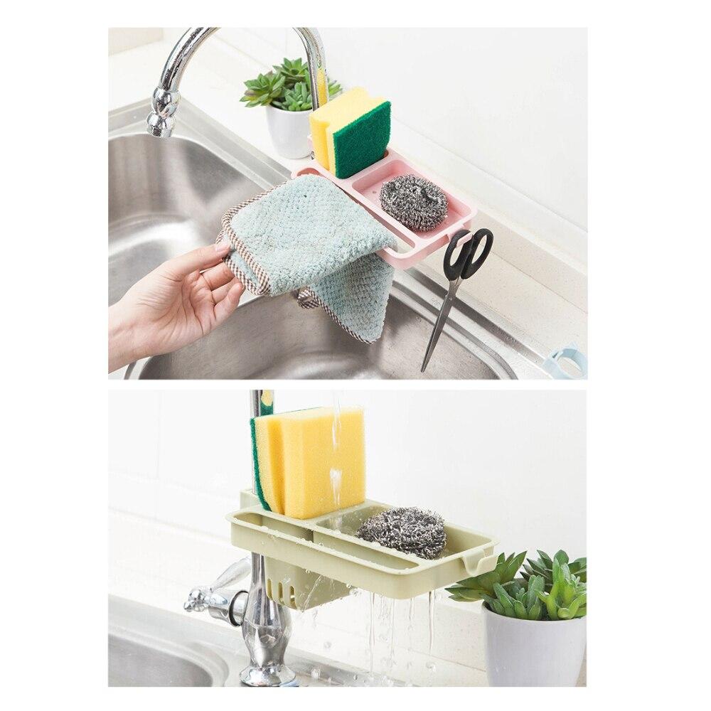 Organizador de sabão banheiro gancho pia esponja toalha de armazenamento trapos gancho pano de prato pendurado rack torneira drenagem rack de armazenamento