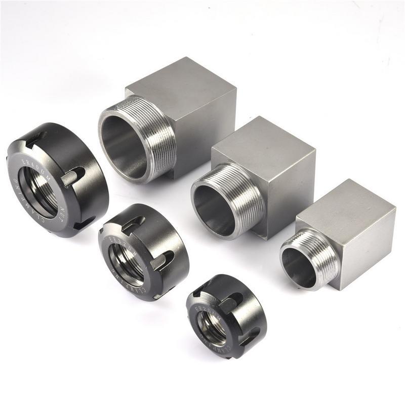 ER25/ER32/ER40 soporte de bloque de mandril cuadrado para máquina de grabado del torno CNC perforación de agujero transversal