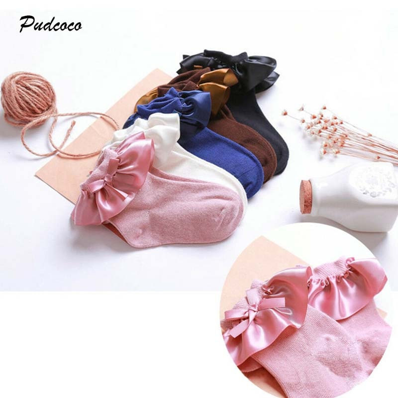 2019 Brand GIrls Anti-slip Socks Infant Toddler Newborn Princess Ruffle Lace Sock For Baby Girls Kids Summer 0-8Years