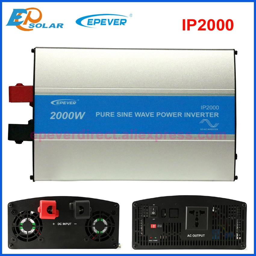 EPEVER IPower IP2000w 2KW نقي شرط موجة خارج الشبكة التعادل الشمسية العاكس dc 24v إلى 220 مع RS485 وظيفة و USB اتصال