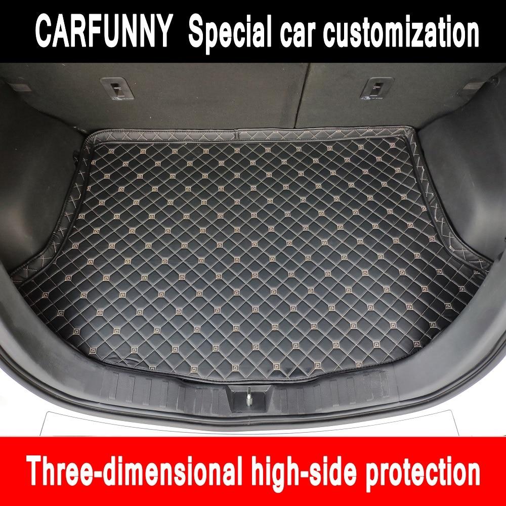 Nuevo lado alto, esteras para maletero de coche para BMW serie 1 E81 E82 E87 E88 F20 F21 F52 116i 118i, alfombra con forro trasero para maletero de coche