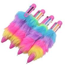 20 pièces stylo en peluche stylo à bille Six couleurs créatif étudiant papeterie bureau cadeau écriture stylo, stylo couleur multicolore Wri