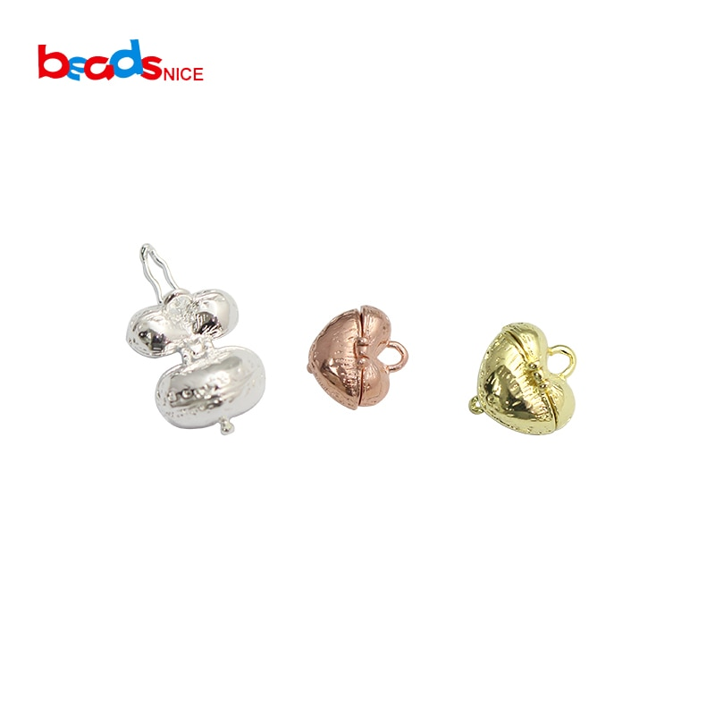 Beadsnice ID10000smt2 colgante de corazón de latón, colgante de corazón, colgante de vid, caja, colgantes, accesorios de joyería