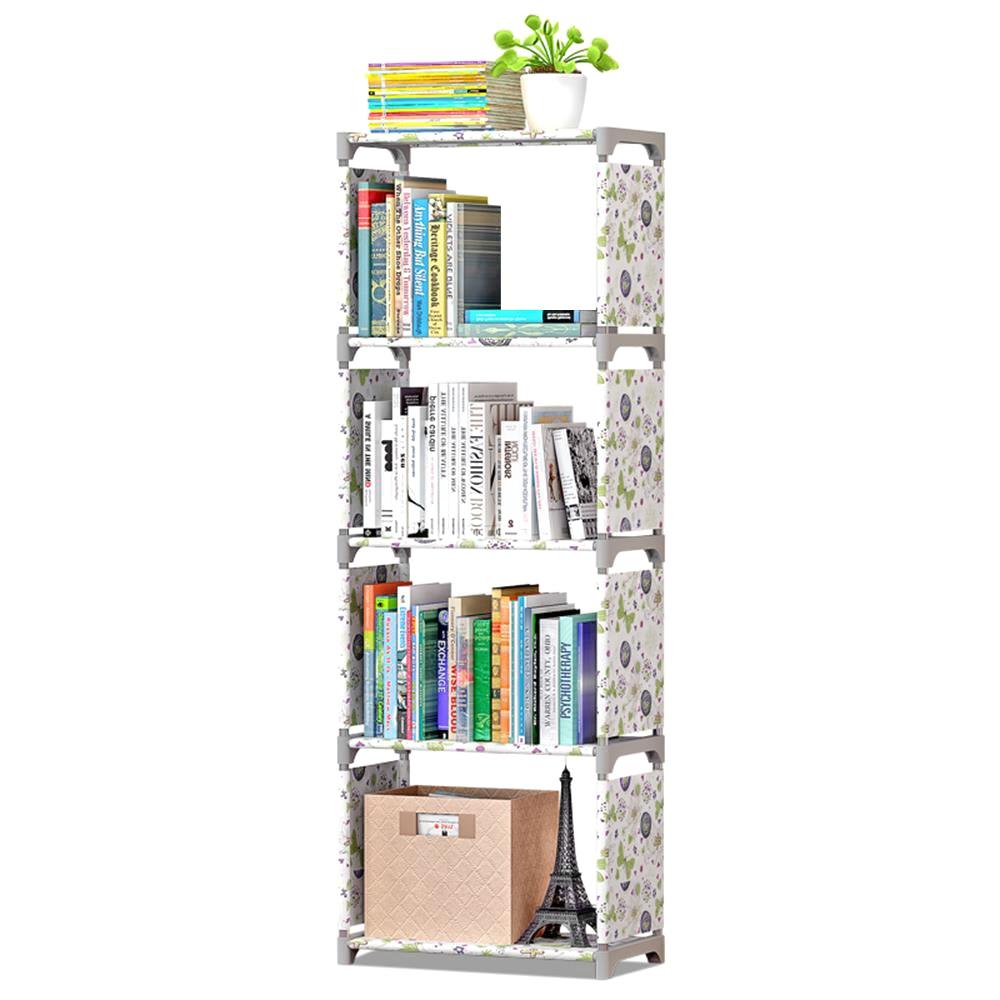 3/5/6-Estantería estanterías de libros estantería creativa estante de almacenamiento contenedor estantería de libros estantería unidad de almacenamiento organizador